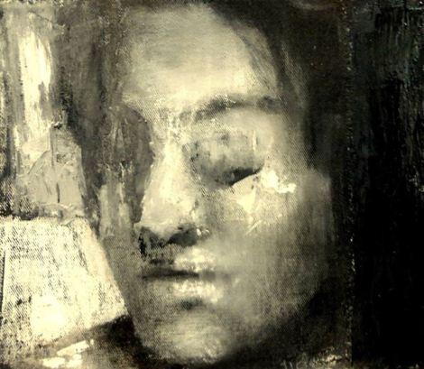 Malena L. Aranguren - Limbo, tecnica mixta sobre tela, 22 x 25 cm, 2013