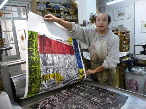 Guillermo Malfitani at work