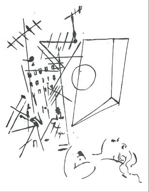 Marylin Slocum - Sleeping Woman, Tinte auf Papier, 32 x 23 cm, 1979