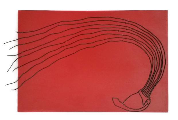 Gerardo Feldstein - Descabezados, Draht auf Holzplatte, 30 x 43 cm, 2011