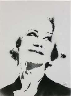Jessica Kellershofen - Helen Mirren, Airbrush on Canvas, 40 x 30 cm, 2016